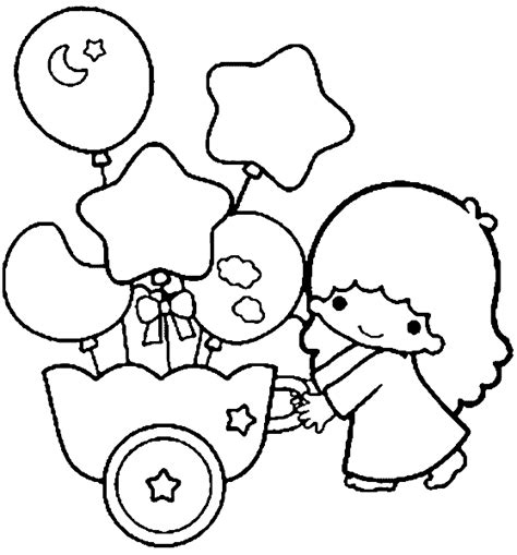 little twin stars coloring books coloring pages