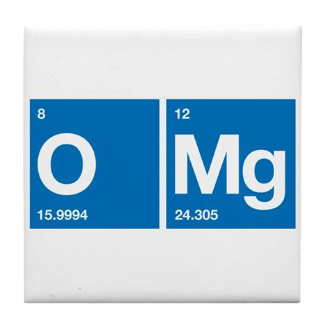 Magnesium Periodic Table by Oxygen Magnesium Periodic Table Omg Tile Coaster By