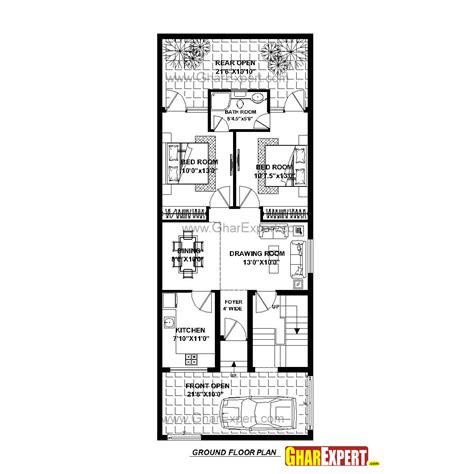gharexpert house design house plan for 23 feet by 60 feet plot plot size 153