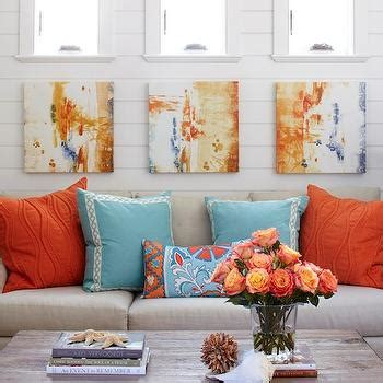orange white and turquoise living room decor turquoise sofa design decor photos pictures ideas