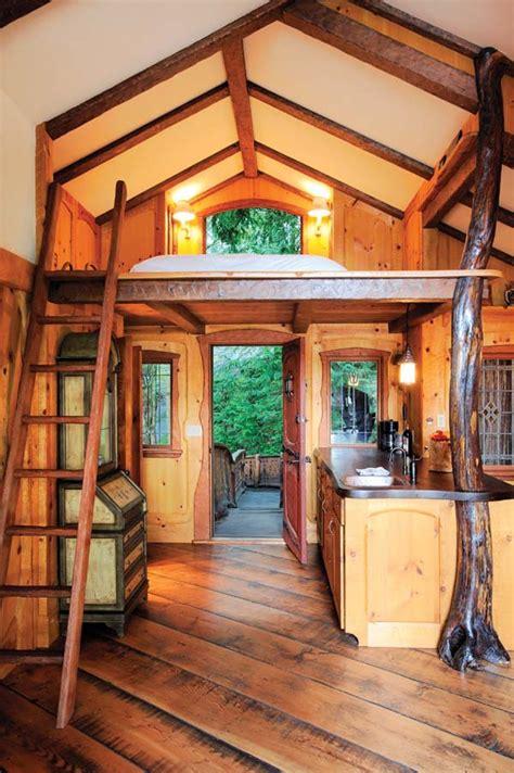 inside of a house inside a treehouse most beautiful