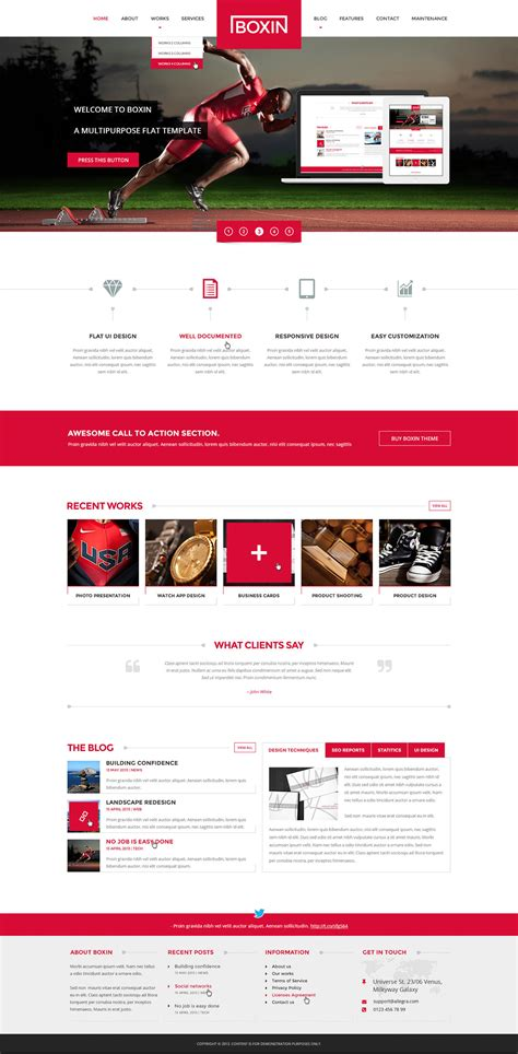 premium home page web design redesign by andig on envato