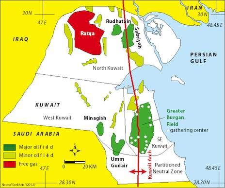 geo expro the great burgan field, kuwait