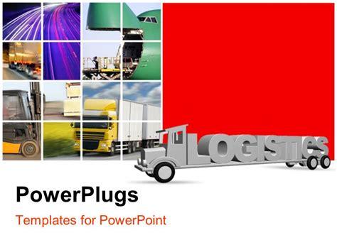 logistics powerpoint template poweredtemplate com 3 powerpoint template the word logistics on an old grey