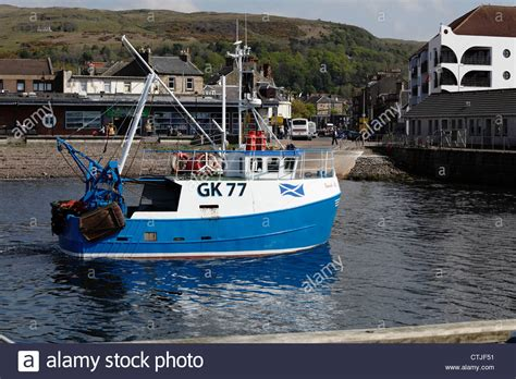 small fishing boats small fishing boat guide us approaching largs harbour in