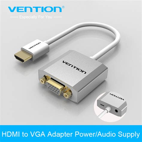 Vga To Hdmi Adapter With Usb And Aux Audio Cable vention hdmi to vga adapter converter cable analog