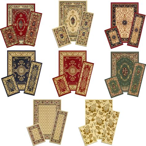 accent rug sets traditional persian accent mat runner area rug 3 piece set