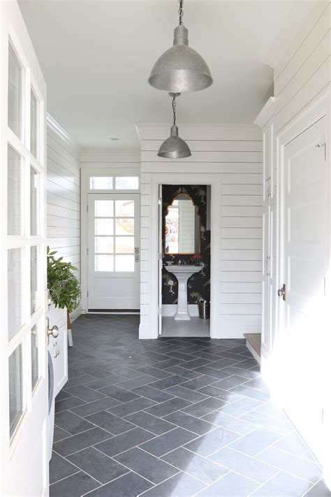 mudroom tile 2016 benjamin color of the year simply white
