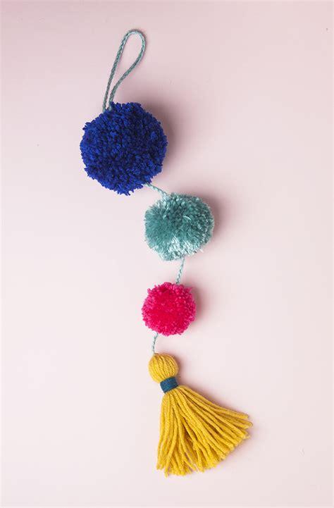 pom pom diy summer pom pom doorknob garland design sponge