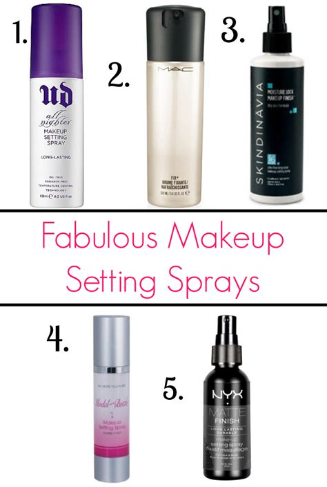 Makeup Spray avoid makeup meltdown with these makeup setting sprays