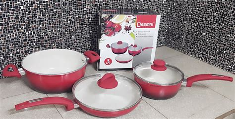 Harga 1 Set Panci Maspion cookware set 5pc dessini neoflame panci keramik saucepan