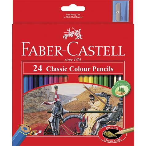 faber castell color pencils faber castell classic coloured pencils 24 pack officeworks
