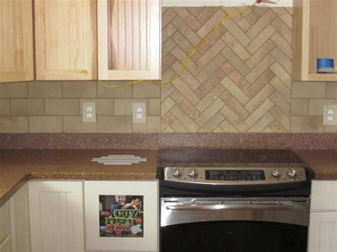 kitchen backsplash tile patterns herringbone subway tile backsplash home design