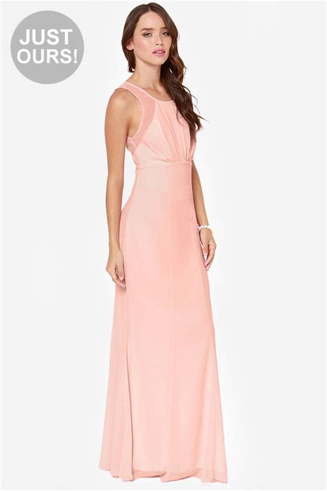 lulu s beautiful pink dress light pink dress maxi dress