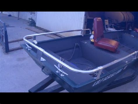 aluminum jon boat mods jon boat mods part 1 side rails youtube