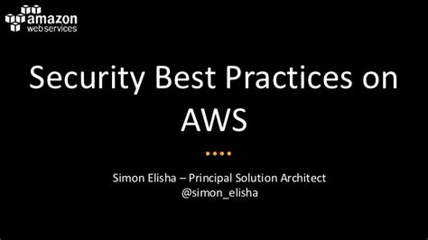 security best practices on aws