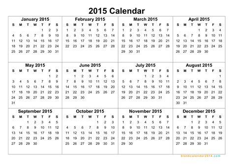 blank yearly calendar 2015 yearly calendar template