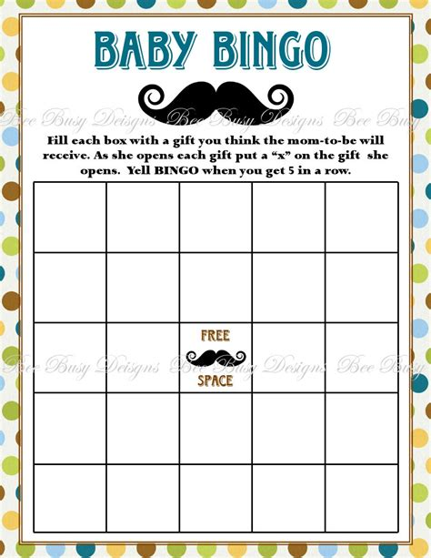 baby shower bingo free baby shower bingo printable
