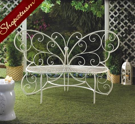 plant bench indoor white metal butterfly indoor outdoor garden bench plant stand