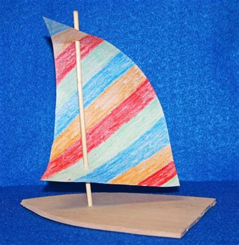 Paper Craft Boat - the steps for how to make the easy paper crafts sailboat