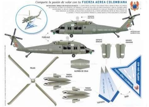 Helicopter Papercraft - harp 237 a uh 60 helicopter by fuerza