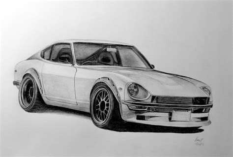 nissan 350z drawing nissan 240z drawing by pavee12120 on deviantart