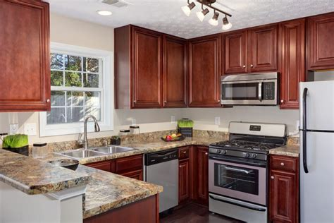 cherry cabinets wall color pictures kitchens traditional dark wood kitchens cherry