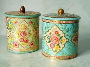 Kitchen Canister Sets Red vintage floral tin storage canisters vintage canisters