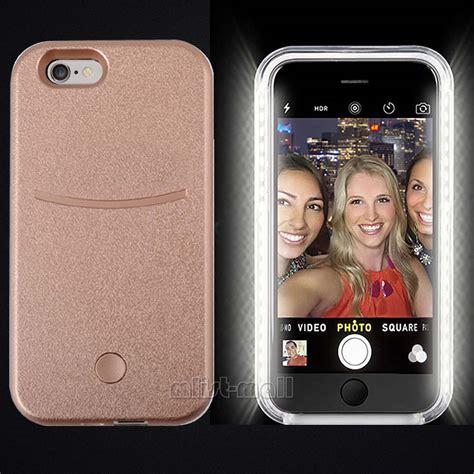 light up mobile phone style led white light up selfie phone cover for