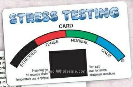 stress testing card with rainbow stock design express
