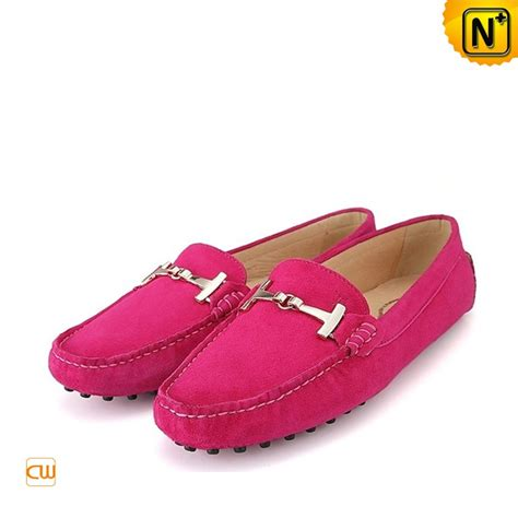 pink leather loafers s gommino driving moccasin shoes cw314025