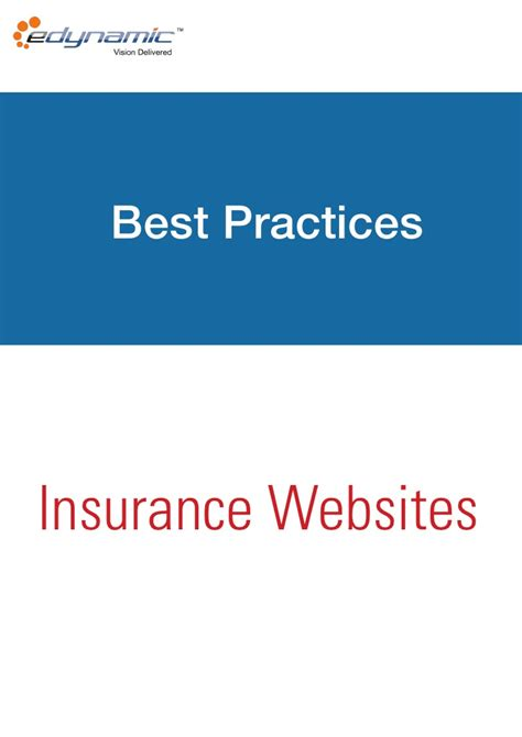 best insurance insurance websites best practices