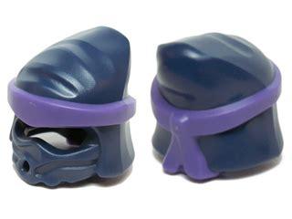 Lego Part Headgear Helmet Wrap Ninjago Headwrap bricker part lego 20568pb01 minifig headgear ninjago peaked wrap with purple wrap