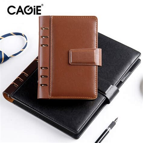 Cagie 2017 Promotion Rushed Agenda School Caderno A5 A6 - aliexpress buy cagie 2017 spiral leather notebook
