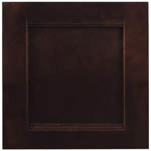 shop shenandoah solana 14 5 in x 14 5625 in java cherry square cabinet sample at lowes com