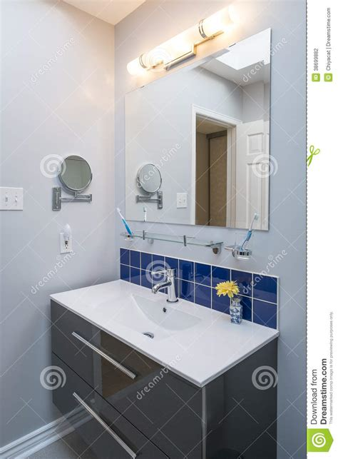 Bright And Elegant New Bathroom 2 Stock Photography Bright Bathroom Light