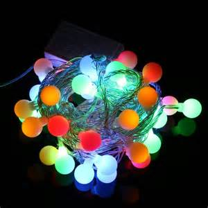 220v rgb led string 50 led 5m colorful christmas light