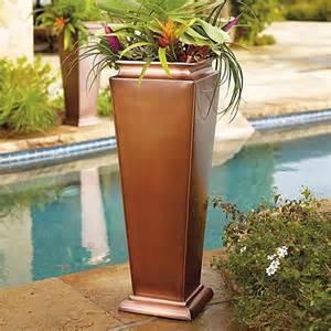 antique copper planter large 36 quot h frontgate