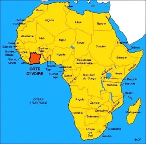 where is ivory coast on the map ivory coast economic exhibition