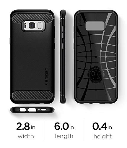Spigen Rugged Armor For Galaxy S8 spigen rugged armor galaxy s8 with resilient shock absorption and carbon fiber design for