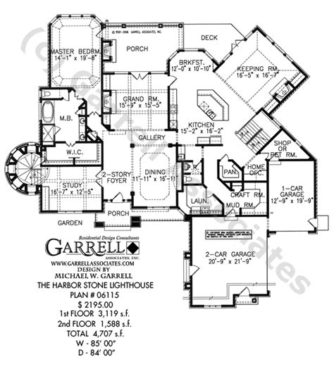 lighthouse floor plans harbor stone lighthouse house plan house plans by