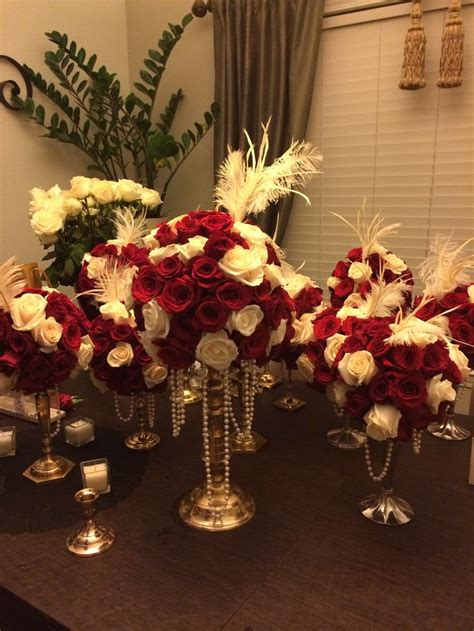 great gatsby centerpieces my diy great gatsby centerpieces mhs prom 2014
