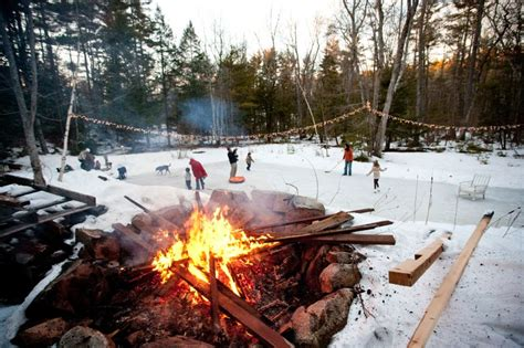 backyard bonfire ideas a winter ice skating party the sweetest occasion