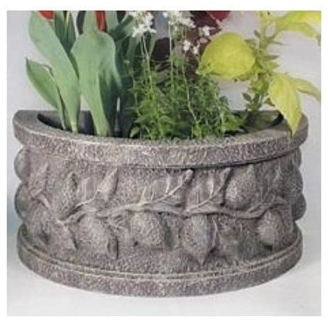 Half Circle Planter by Half Lemon Planter In Moss Finish Outdoor Pots And Planters