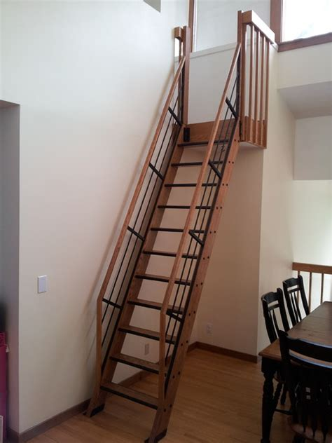 Ladders For High Ceilings by Loft Ladder Loft Ladders For High Ceilings Noir Vilaine