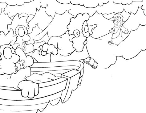 coloring pages for jesus walking on water coloring pages jesus walking water bible coloring