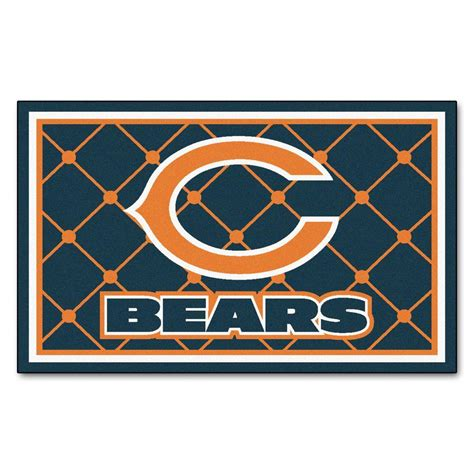 chicago bears rugs fanmats chicago bears 4 ft x 6 ft area rug 6567 the home depot