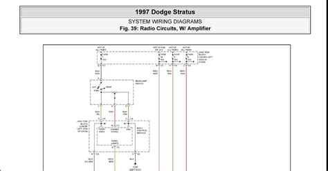 dodge stratus stereo wiring diagram dodge get free image