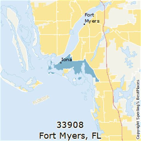 zip code map fort myers best places to live in fort myers zip 33908 florida