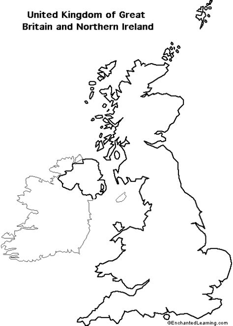 uk map coloring page outline map research activity 2 united kingdom